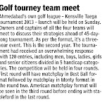 Kensville TAEGA Tournament 2013 - Media