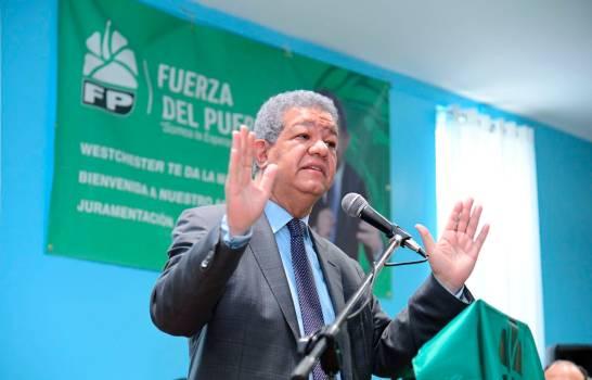 """Dice Leonel Fernández """"Fuerza del Pueblo jamás va a penetrar el dinero del narcotráfico"""""""