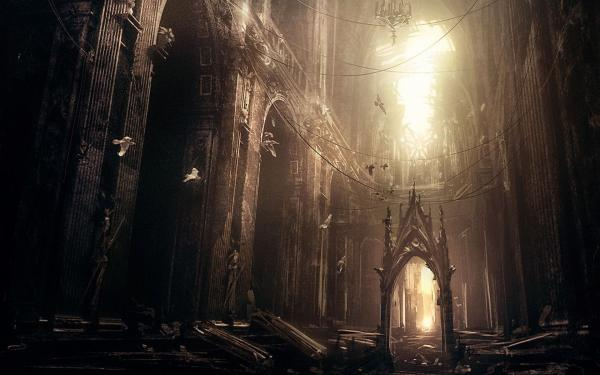 Abandoned Gothic Cathedral, Evil Creatures