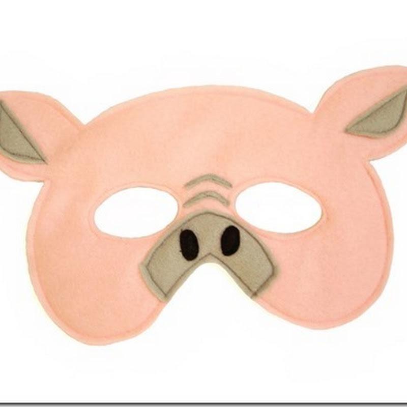 Careta de cerdo en color para imprimir