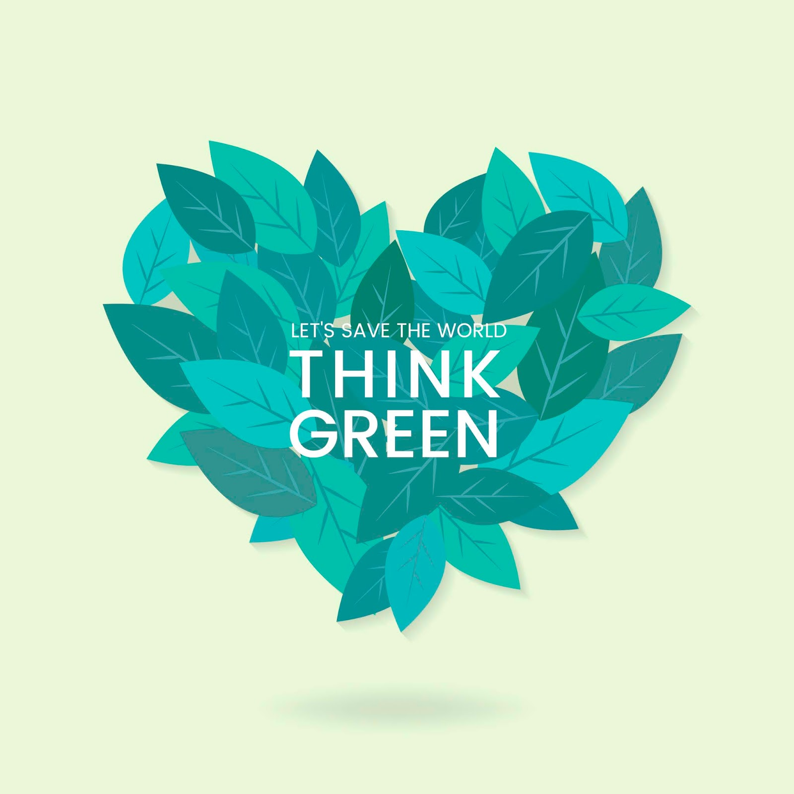 Think Green Environmental Conservation Vector Free Download Vector CDR, AI, EPS and PNG Formats