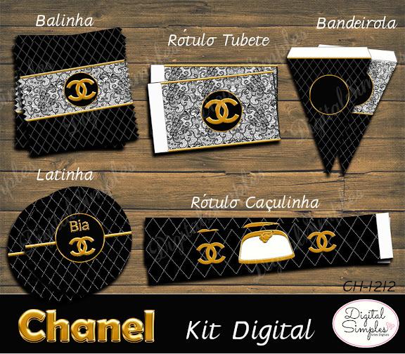 Kit Digital Festa Chanel  .....artesdigitalsimples@gmail.com