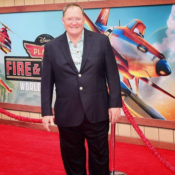 Executive producer John Lasseter poses on arrival for the world premiere of the film 'Planes Fire & Rescue' in Hollywood, California, on July 15, 2014.