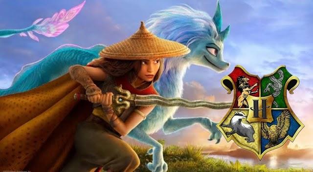 Raya e o último dragão: os personagens principais classificados em suas casas de Hogwarts