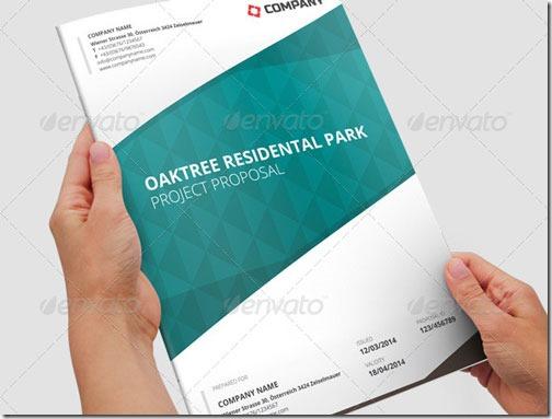 Plantilla para proyecto con tablas e infografías, 16 páginas, InDesign