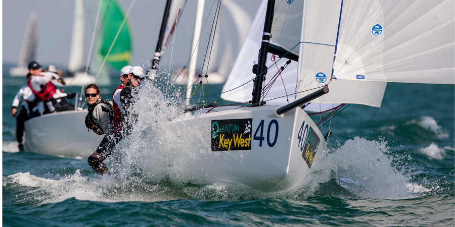 J/70s sailing at Key West Race Week