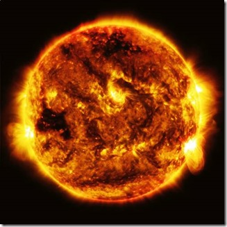 powerful explosion on the Sun recorded by NASA