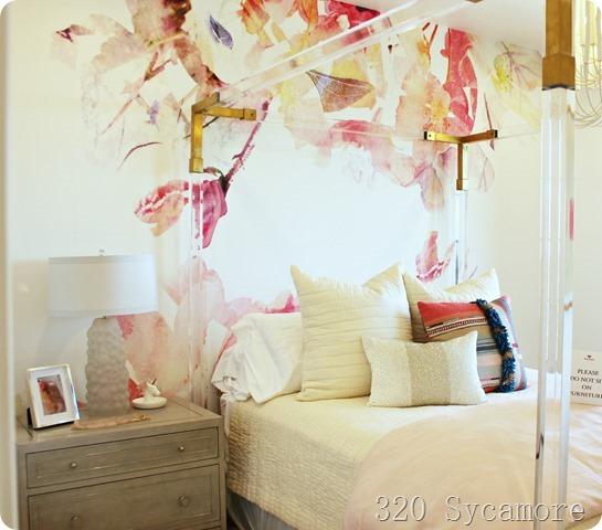 mural teen girl room