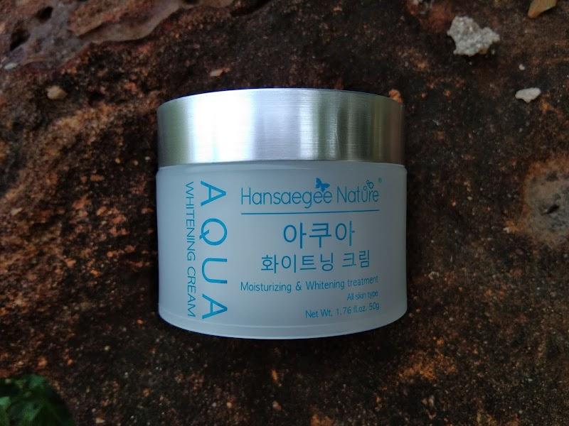 Hansaegee Nature Aqua Whitening Cream Untuk Kulit SunBurn & Redness