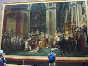 The Coronation of Napolean - the famous painting, another version of which hangs at Versailles.
