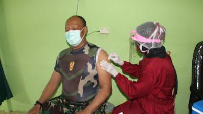 Prajurit Kodim Bantul Mulai Disuntik Vaksin Covid 19