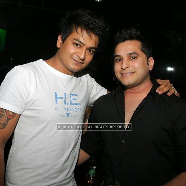 Suren Ahuja and Rishi during a DJ party in the city.