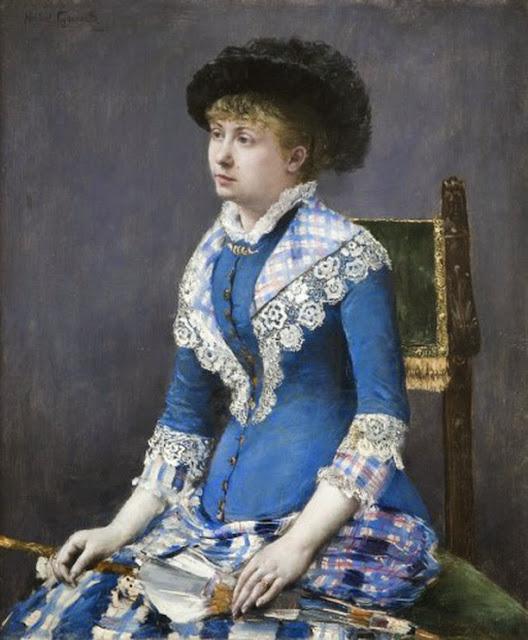 Norbert Goeneutte - Portrait de femme à l'ombrelle, 1880