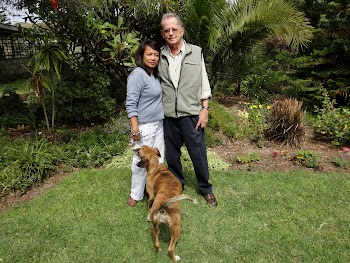 Peter & Minalyn - with one of our dogs, ShaSha