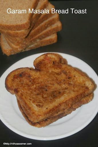 Garam Masala Bread Toast Garam Masala Toast