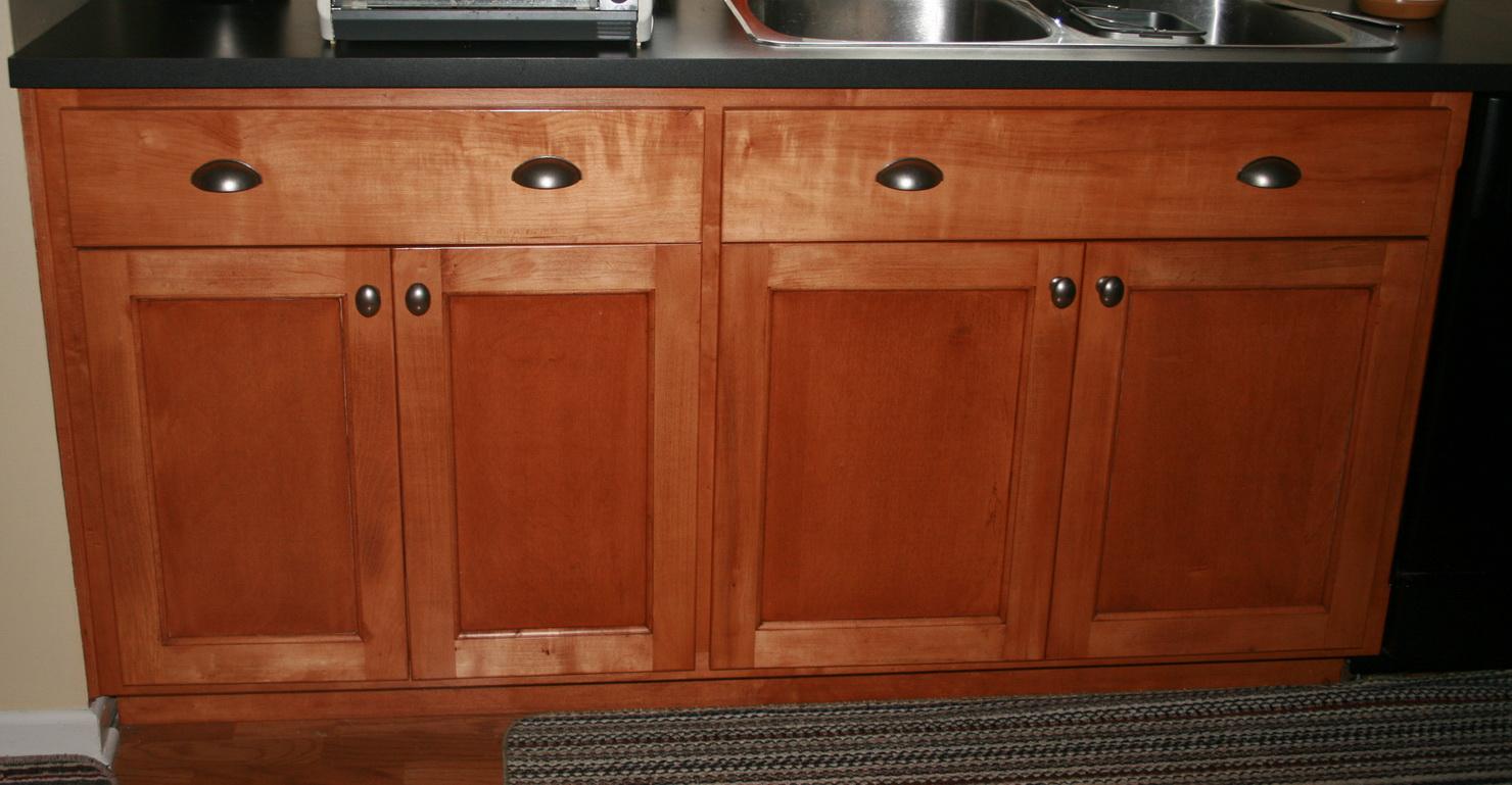 Brazilian Cherry Kitchen Cabinets