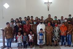 Perayaan HUT Gereja St. Benediktus Bongkit, Aloysius Hadir Ditengah-Tengah Warga