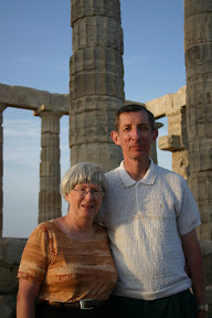 Mom and dad at the Temple of Poseidon, Cape Sounion