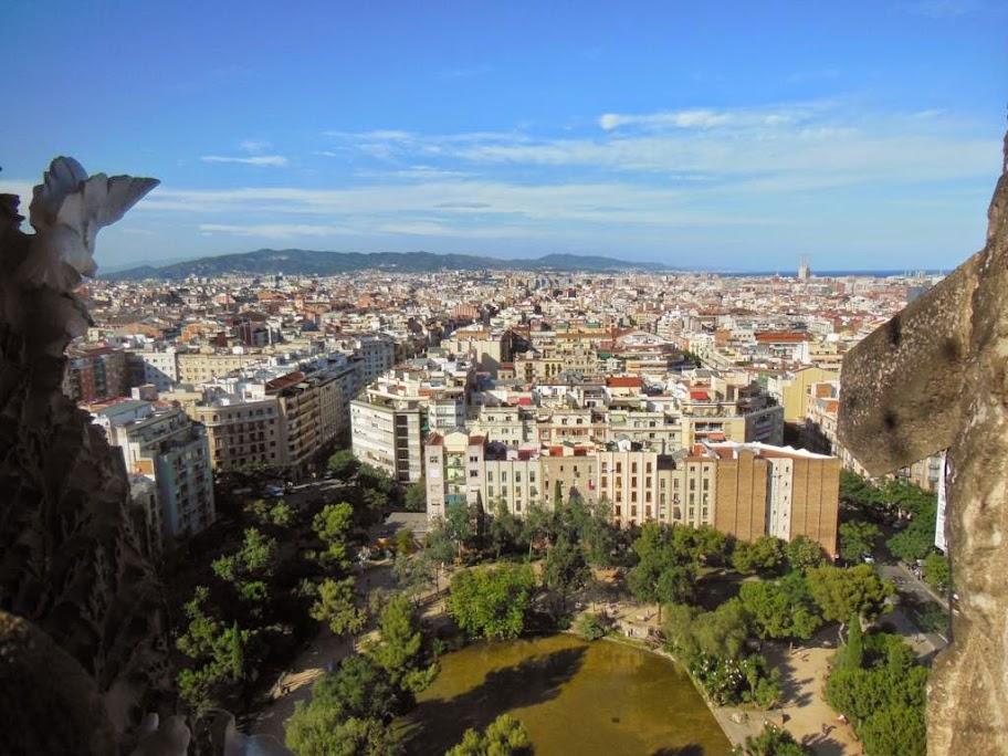 Vistas de Barcelona desde la Torre del Nacimiento de la Sagrada Familia
