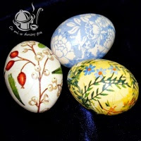 dekoracja jaj metodą serwetkową