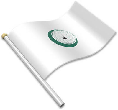 The OIC flag on a flagpole clipart image