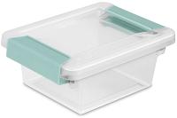 small sterilite latch clip box for classroom storage