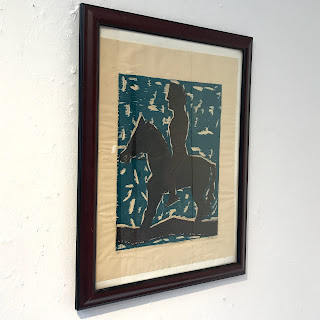 F. Alvarez Signed Woodblock