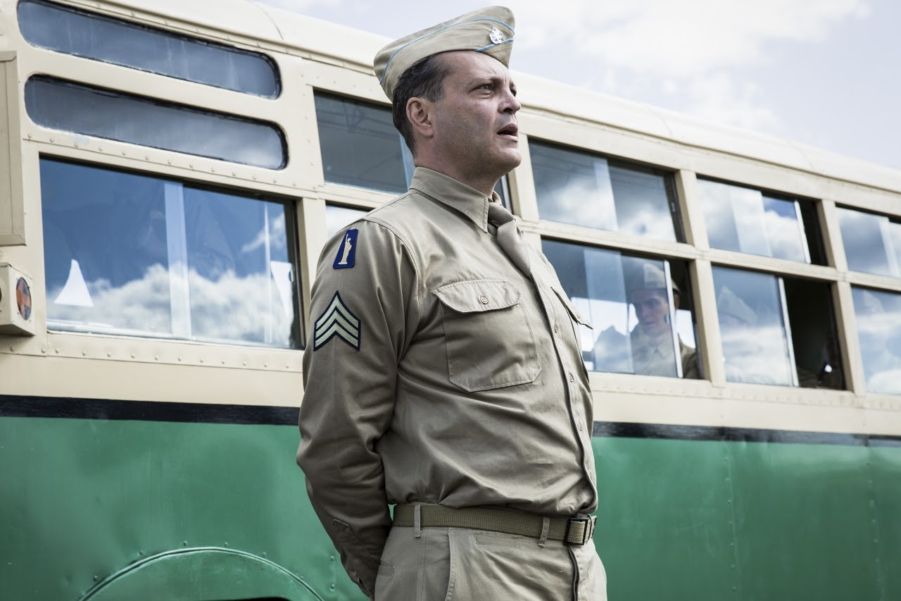 Vince Vaughn stars as 'Sergeant Howell' in HACKSAW RIDGE. (Photo by Mark Rogers / Lionsgate).