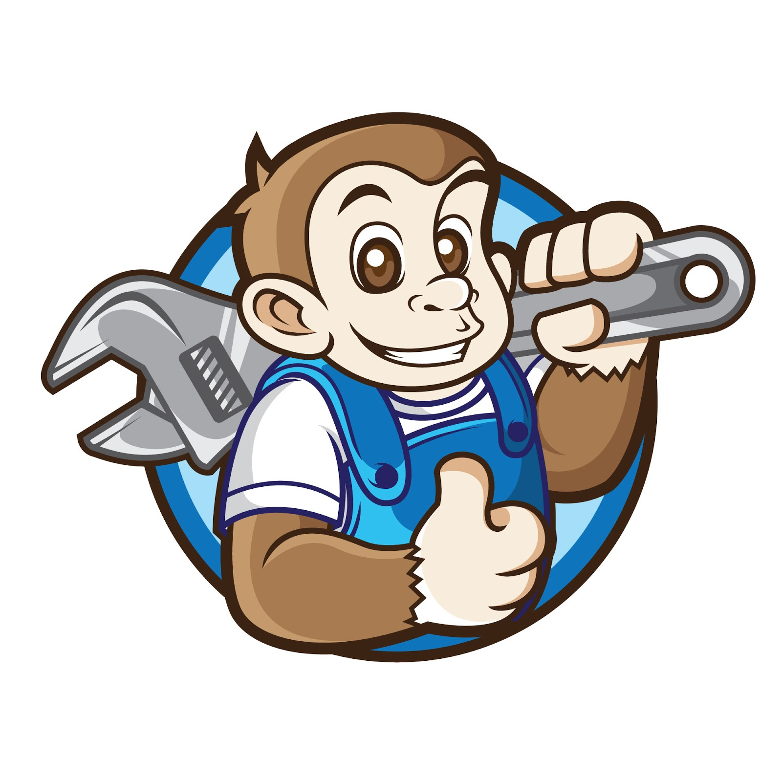 Mechanic Mascot Logo Free Download Vector CDR, AI, EPS and PNG Formats