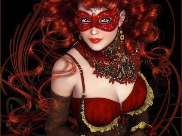 Red Mask Beauty Girl, Magic Beauties 1