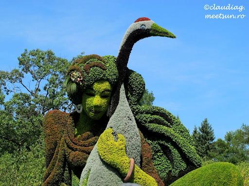 sculpturi vii din plante la gradina botanica #Mosaiculture