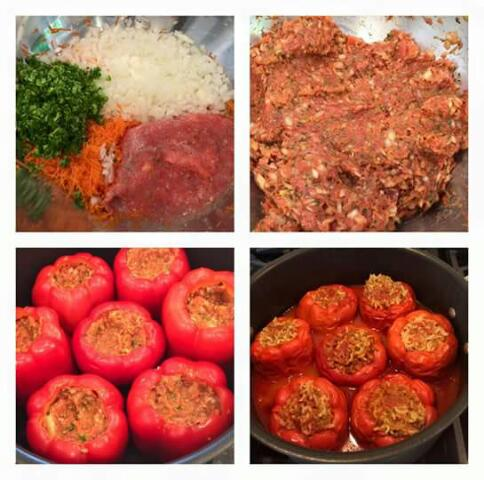 Stuffed Bell Peppers with Ground Turkey