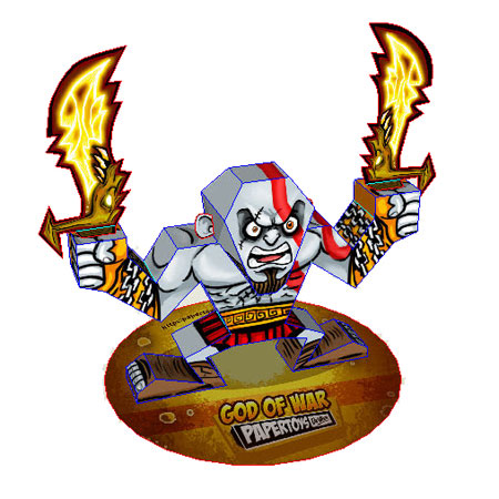 God of War Kratos Paper Toy