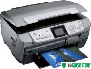 How to reset flashing lights for Epson RX700 printer