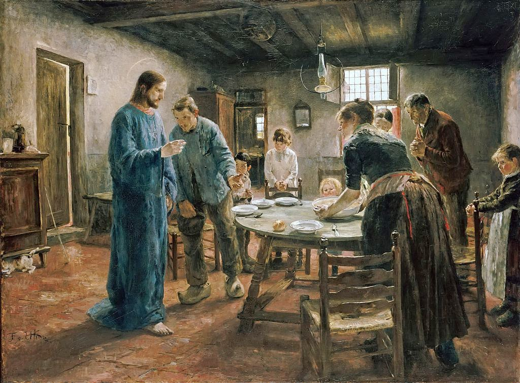 Fritz von Uhde - The Mealtime Prayer - Google Art Project
