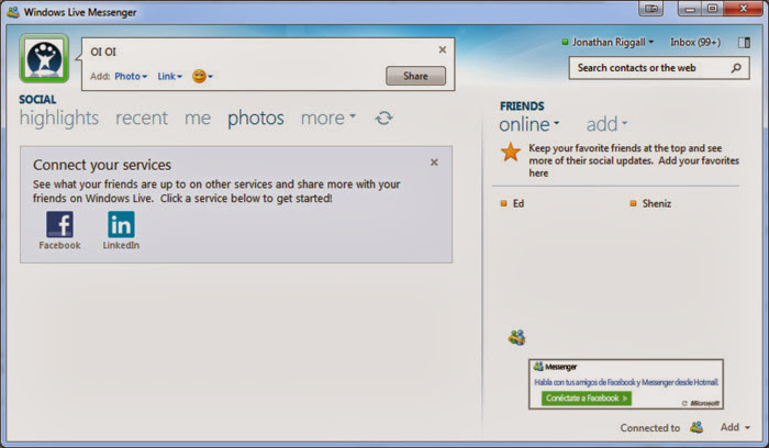 Screenshot of Windows Live Messenger 2012 v.16.4.3508 Chat Client PC Software Free Download at Alldownloads4u.Com