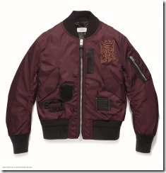 COACH x Keith Haring MA-1 Jacket in Maroon (22052)