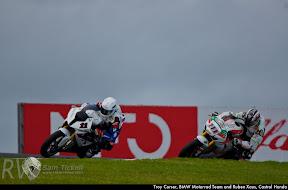 Troy Corser, BMW Motorrad Team and Ruben Xaus, Castrol Honda