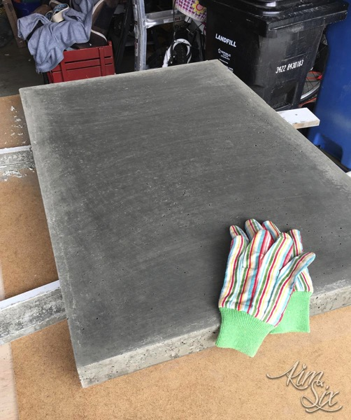 Concrete slab for tabletop