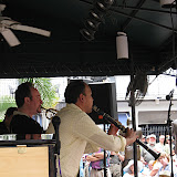 "A group of JSOP members and other guests signed up for a bus ride to New Orleans for the annual French Quarter Jazz Festival, and had a great day enjoying the music throughout the Quarter. This annual JSOP ""field trip"" is affordable, and makes it easy and fun to attend this Festival, known as one of the best in the nation for jazz. The Festival is free on top of that! JSOP member Dave Jenson organized the bus, a hotel room for relaxation and rest, and information so attendees could plan their time."