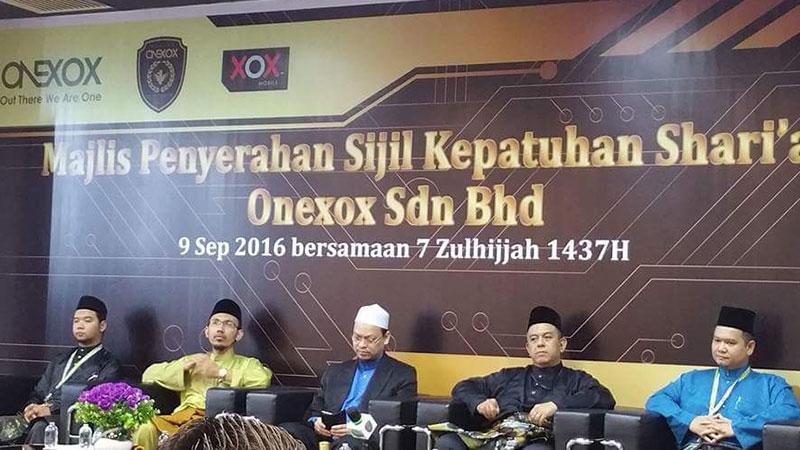 Majlis Penyerahan Sijil Patuh Shariah ONEXOX
