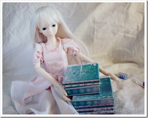 Ball Jointed Doll Photo Ruined By a Toothbrush