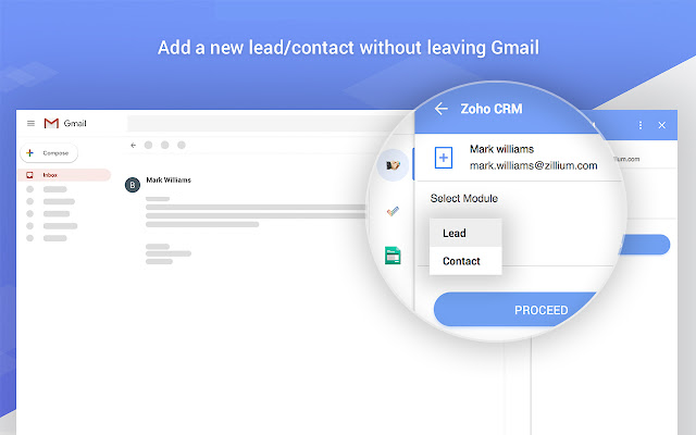 Zoho CRM for Gmail - G Suite Marketplace