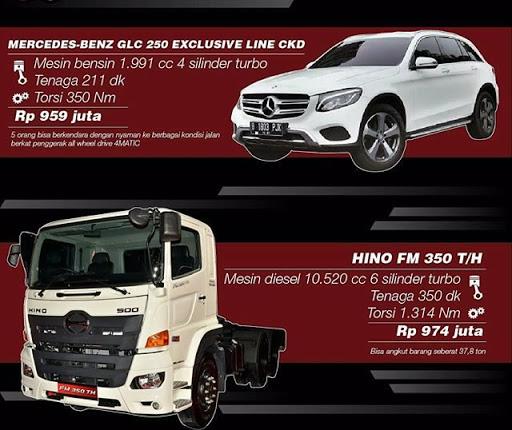Harga Truck Hino FM 350 T/H Dan SUV Mercedes-Benz GLC 250 Setara Di Angka 900-an Juta, Kamu Pilih Mana?