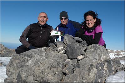 Chinebral de Gamueta mendiaren gailurra 2.326 m.  --  2015eko urtarrilaren 3an