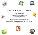 Articulation App List image