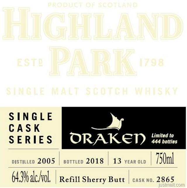 Highland Park Single Cask Series Draken