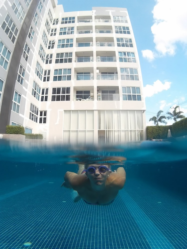 more swimming in the cool waters of our pool!