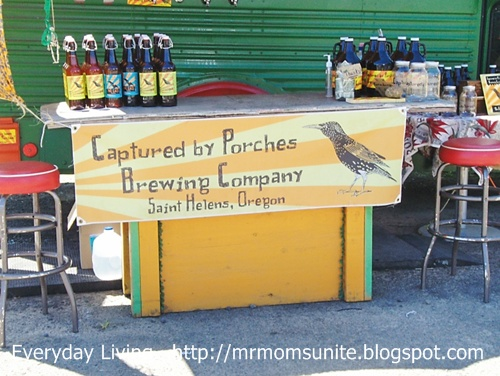 photo of a beer stand in Oregon