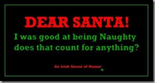 dear santa-good at being naughty